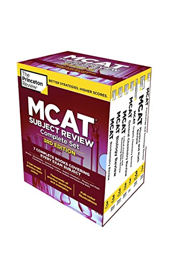 The Princeton Review MCAT Subject Review Complete Box Set, 3rd Edition: 7 Complete Books + 3 Online...