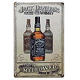 Shunry Jack Daniels Blechschilder Vintage Metall Poster