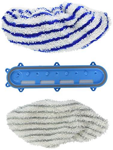 Rowenta Set 2 Toallitas de microfibras Aqua Head ZR009501 Accesorio cabezal y mopa para modelos Aqua X-Force, blanco y azul