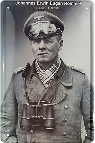 Johannes Erwin Eugen Rommel Deutsches Reich Blechschild 20 x 30 Retro Blech 1729