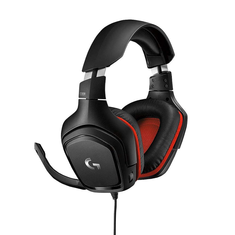マラソン連合バランスゲーミングヘッドセット Logicool ロジクール G331 ブラック/レッド 軽量 3.5mm 2.1chステレオ高音質 ノイズキャンセリングマイク 合成皮革イヤーパッド   PS4/PC/Xbox/Switch/スマホ 国内正規品 2年間メーカー保証