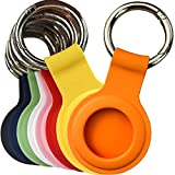 Air Tag Holder,8 Pack Exended Airtag Case Compatible with Apple AirTag 2021,Protective Air Tag Dog Collar Holder Anti-Lost Keychain,Silicone Airtag Accessories for Car Bag Key Luggage Tracing
