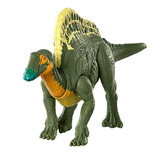 Jurassic World Ataque Rugido Ouranasaurus Dinosaurio articulado con Sonidos, Figura de Juguete para niños (Mattel HBX38)