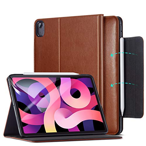 ESR Business Case for iPad Air 4 2020 10.9 inch [Vegan Leather Folio] [Pencil 2 Compatible] Director Series – Brown
