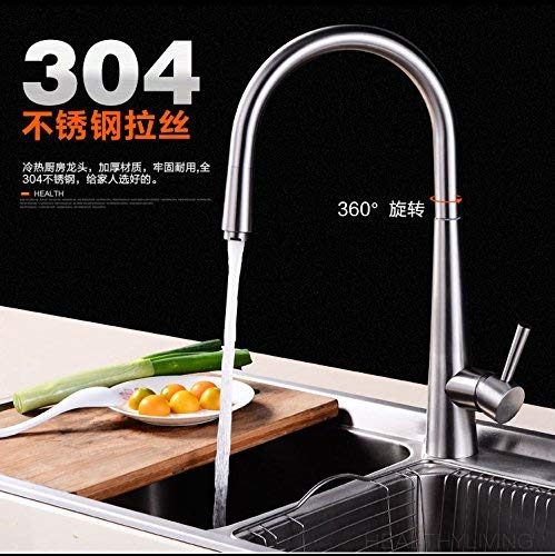 Das Format Küchenarmatur 304 Edelstahl Spülbecken Wassermischventil Spülbecken Abwasch in einem Badewannenarmatur, 304 Edelstahl zu einem Paar 60cm Wasserzulaufrohr
