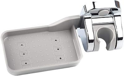 Shower Head Bracket with Soap Holder, Adjustable Handheld Shower Rod Assembled for Bathroom, Kitchen