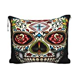 Manta de Almohada de Viaje Rosey Candy Skull Tube Socks Travel Blanket Pillow Set for Extra Comfort Portable with Luggage...