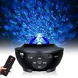 Tanbaby Proyector de Luz Estelar,Proyector LED Reproductor de Música con Bluetooth/Altavoz/Temporizador,Lámpara Nocturna Estrellas y Océano,Luz bebé nocturna,Luces Decorativas Habitacion para Fiesta