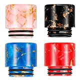 Resin 810 Connector Drip Wide Bore Accessory Screws Tip Adaptor Quick Standard Fitting Machine Replacement Drip Tip for Ice Maker Coffee Machine (4, Black, Pink, Red, Blue)