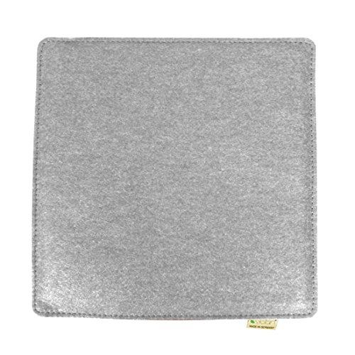 Violan Sitzkissen quadratisch, Silver-Grey
