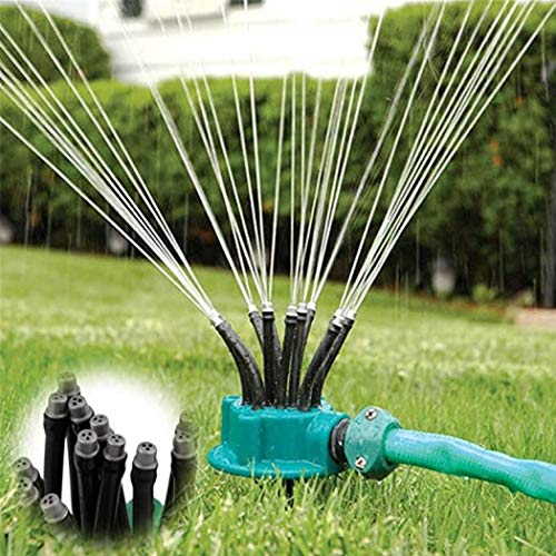 Jardín de riego cabeza de fideos flexible 360 grados aspersor de agua boquilla rociador césped, jardín, riego aspersor spray