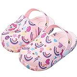 HommyFine Zuecos Bebé Niños y Niñas Sandalias de Unicornio Verano Sandalias de Playa Respirable Antideslizante Piscina Jardín Zapatos