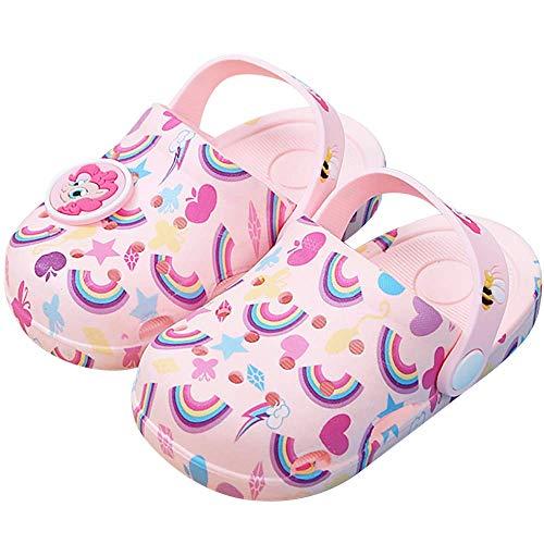 HommyFine Zuecos Bebé Niños y Niñas Sandalias de Unicornio Verano Sandalias de Playa Respirable Antideslizante Piscina Jardín Zapatos (Rosado, Numeric_24)