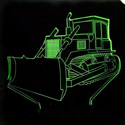 Traktor Auto 3D Nachtlicht 7 Farbwechsel Led Tisch Schreibtischlampe Acryl Flache Abs Basis Usb Ladegerät Dekoration Berühren Sie Schalter