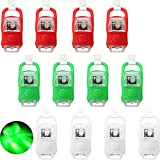 12 Pieces LED Boating Lights Navigation Lights LED Safety Boat Lights Boat Bow and Stern Battery Operated with 3 Modes for Boat Pontoon Yacht (Red, Green, White)