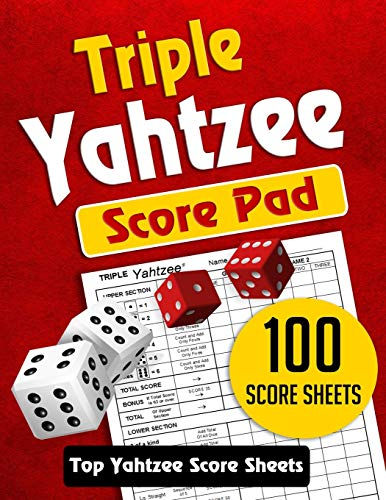 Triple Yahtzee Score Pad: 100 TRIPLE Yahtzee Score Sheets, Game Record Score Keeper Book. TOP Quality Score Card and Large Size 8.5 x 11 inches Vol.1