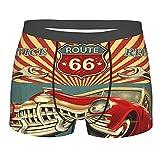 COSNUG - Boxer da uomo, stile vintage, retrò, per garage, autorimesse, traspiranti, pantaloncini, Multicolore, M