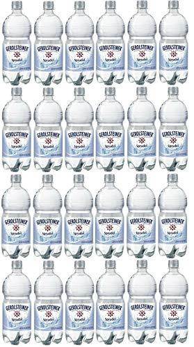 24 Flaschen Gerolsteiner Sprudel a 1l PET EINWEG inklusive 6€