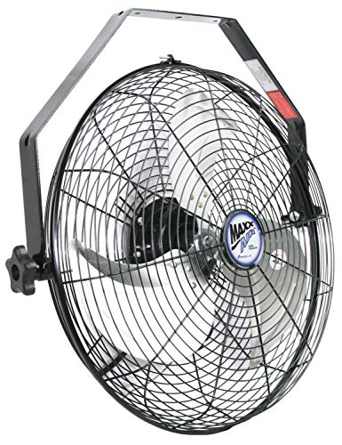 Maxx Air Wall Mount Fan, Commercial Grade for Patio, Garage, Shop, Easy Operation and Powerful CFM (18