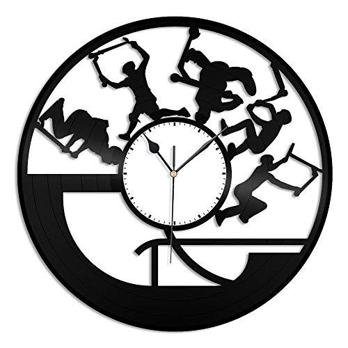 CNLSZM Reloj De Pared De Vinilo Disco De Pared De Vinilo para Scooter De Acrobacias Decoración Moderna Y Vintage-sin luz led