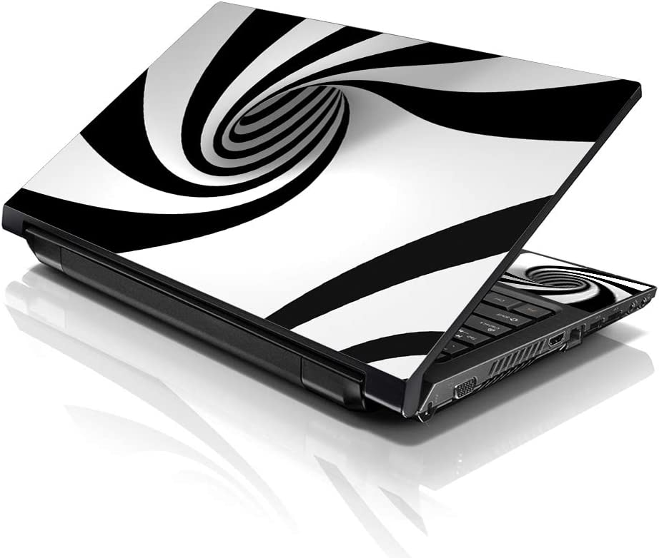 LSS Laptop 17-17.3″ Skin with Colorful Tornado Swirl Pattern for HP Dell Lenovo Apple Asus Acer Compaq – Fits 16.5″ 17″ 17.3″ 18.4″ 19″ (2 Wrist…