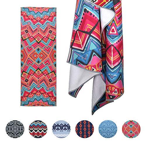Yogabum Printed Grip Dot Yoga Towel (Inca)