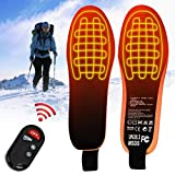 Oulian Heated Insole with Remote Control USB Rechargeable Heating Shoes Insoles for Women Men, Electric Heating Pad, Foot Warmer, Cutable Heated Winter Insoles, Used for Winter Sports, Hiking