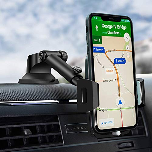 Cell Phone Holder,Amoner Car Phone Mount,Dashboard Car Phone Holder, Washable Strong Sticky Gel Pad Compatible iPhone 11 pro,11 pro max,X,XS,XR,8,7,6 Plus,Galaxy S20,10,9,8,Google Nexus
