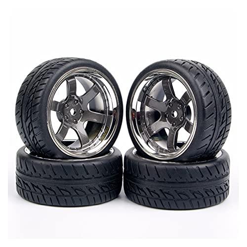UGUTER ZLD 4pcs / Set Neumáticos de Goma Rueda RONE 12MM Hex FIT 1:10 RC en la Carretera Accesorio de Piezas