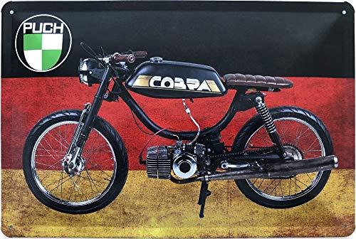 Deko7 blikken bord 30 x 20 cm motorfiets Puch Cobra - Duitsland