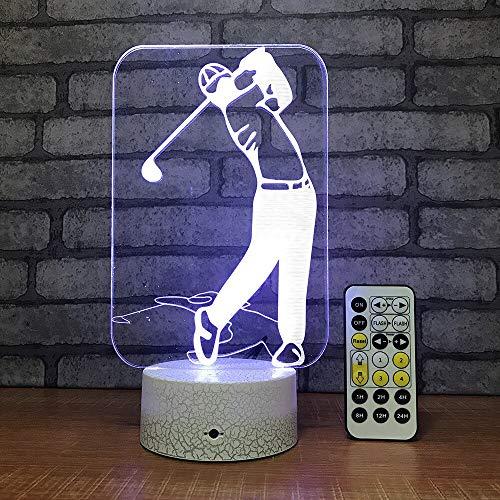 Venta al por mayor regalo de cumpleaños creativo para niño 3d personalizado luz de noche color control remoto escritorio decorativo usb led 3d lámpara