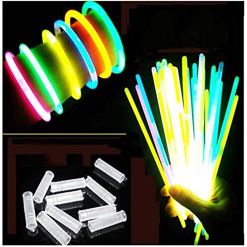 Melodycp Light Stick 100 Package Lamp Grass Village Fluorescent UV Bracciale e connettore (Misto)