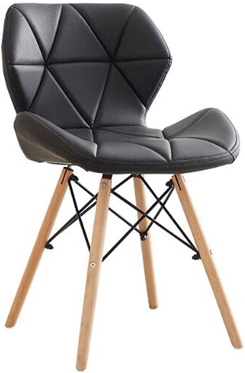 LQQGXL Modern Minimalist Chair, Computer Chair, Solid Wood Dining Chair Creative Dining Chair, (color   A)