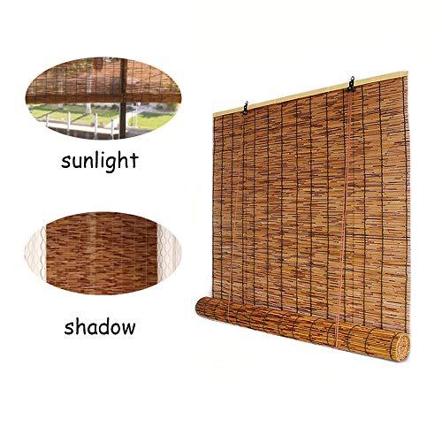 XYNH Bambus Raffrollo - Holzrollo Für Fenster,Schatten, Um Den Innenraum Kühl Zu Halten,Rollo Fenster Holzjalousie FürTerrasse,Pavillon,Terrasse