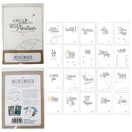 20 Meilenstein-Karten