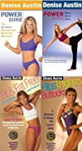 Denise Austin (4 Pack) The Ultimate Metabolism Boosting Workout /Power Zone - Mind, Body, Soul / Hips Thighs & Buttocks / Fit & Fat Free