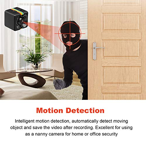 Hankermall SQ11 Mini Spy Camera Secret Camera 1080P Spy Camera with IR Night Vision Motion Detection Small Surveillance Camera for Home
