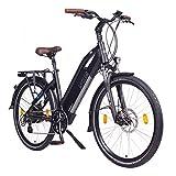 NCM Milano Bicicletta elettrica da Trekking, 250W, Batería 48V 13Ah 624Wh 28' Bianco