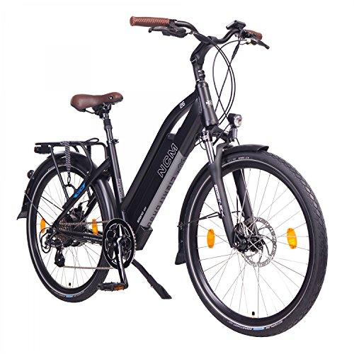 """NCM Milano Bicicletta elettrica da Trekking, 250W, Batería 48V 13Ah 624Wh 26\"""" Nero"""
