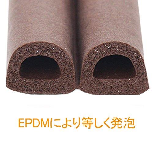 『TideMC 隙間テープ スキ用テープ 埋める 気密 窓 ドア 隙間 すきま パッキン 防音 防風 防虫 D型 (5M ブラウン)』の3枚目の画像