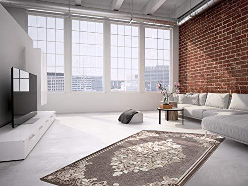 Lalee 3D Teppich mit Glanzgarn, Beige, 80 x 300 cm