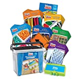 hand2mind VersaTiles Math Differentiation Kit for Kids (Grade 1-6) - Addition, Subtraction, Fractions, and Geometry | 36 Activity Books and 1 Teacher Guide