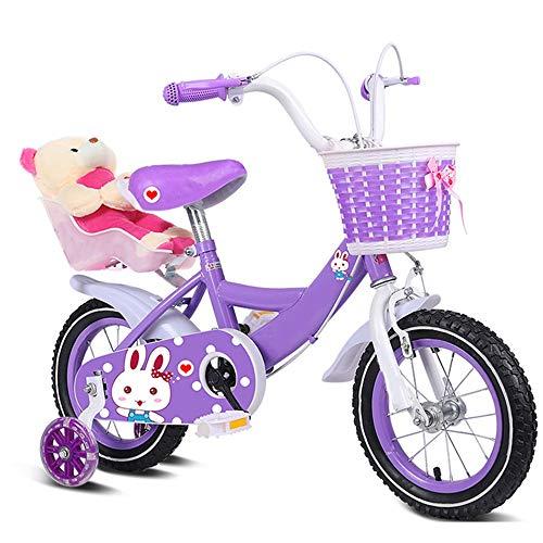 Axdwfd Kinderfiets 12 14 16 18 20 inch Kinderfiets Kinderfiets met wielen gevlochten beer cadeau fiets 2-15 jaar