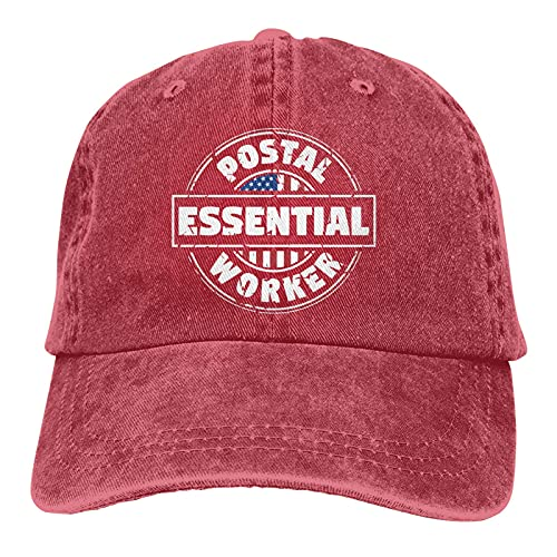 Jopath Baseballmütze, unisex, klassischer Cowboy-Denim-Hut, verstellbar, für Papa Gr. One Size, rot