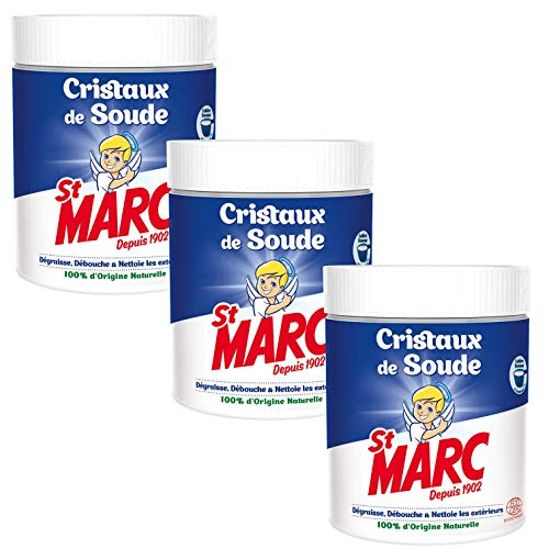 St Marc Cristaux de Soude Nettoyant Multi-Usage 100% d'Origine Naturelle 500 g - Lot de 3