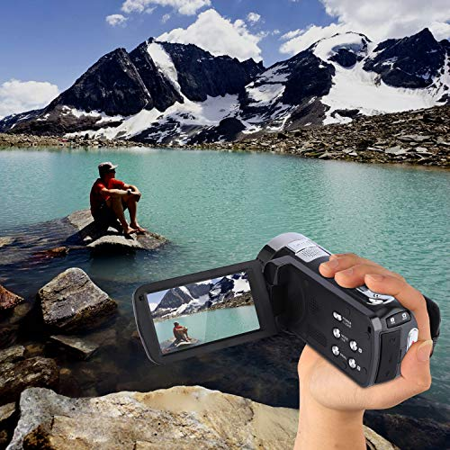 Video Camera Camcorder,CamKing DV01 24MP HD 1080P 18X Beauty Function Digital Video Camcorder with 3.0