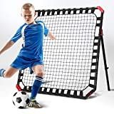 TGU-Sports Soccer Rebound Net - Skill Training Gifts, Aids & Equipment for Kids & Teens | Portable Kick-Back Rebounder, Football Team Exercises & Solo Practice, NOS032402021, Black, 4ft x 4ft