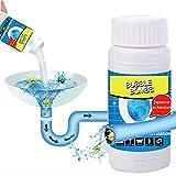 AchidistviQ Leistungsstarker Abflussreiniger für Küche WC Abwassergerät Reinigungspulver Entkalkungsmittel Rohr Bagger Abwassermittel Rohrreiniger Toilettenreinigung