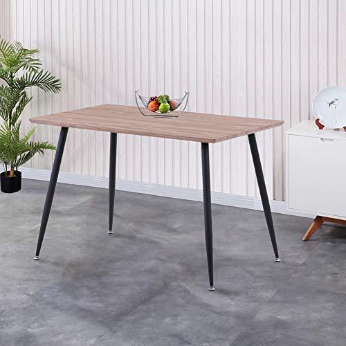 GOLDFAN Esstisch Holz Küchentisch Rechteck Modern Wohnzimmertisch Holztisch für Büro Küche Braun 110x70x75cm