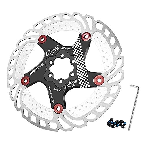 SHHMA Rotor de Freno de Disco de Bicicleta Disco de disipación de Calor con 6 Pernos para Bicicleta de Carretera Bicicleta de montaña MTB BMX Rotor de Bicicleta de Acero Inoxidable,Negro,160MM